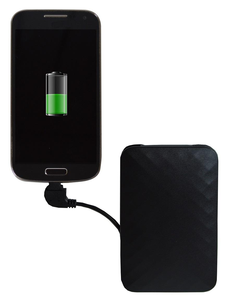 5,000mAh Power Bank - Black - Charging HR